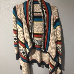 Tribal Print Knit Cardigan
